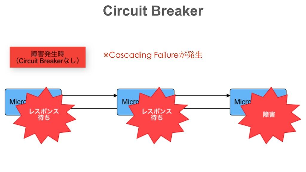 Circuit Breaker ※Cascading Failure͕ൃੜ