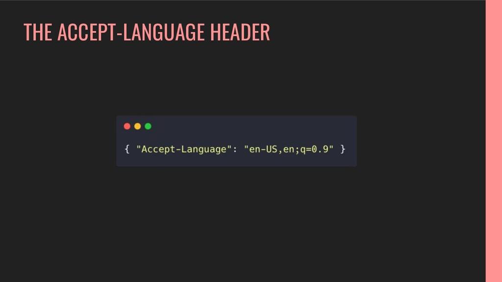 THE ACCEPT-LANGUAGE HEADER