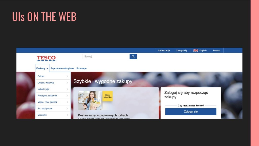 UIs ON THE WEB