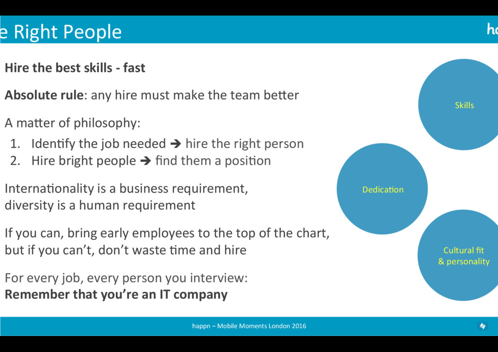 e Right People  Hire the best ...