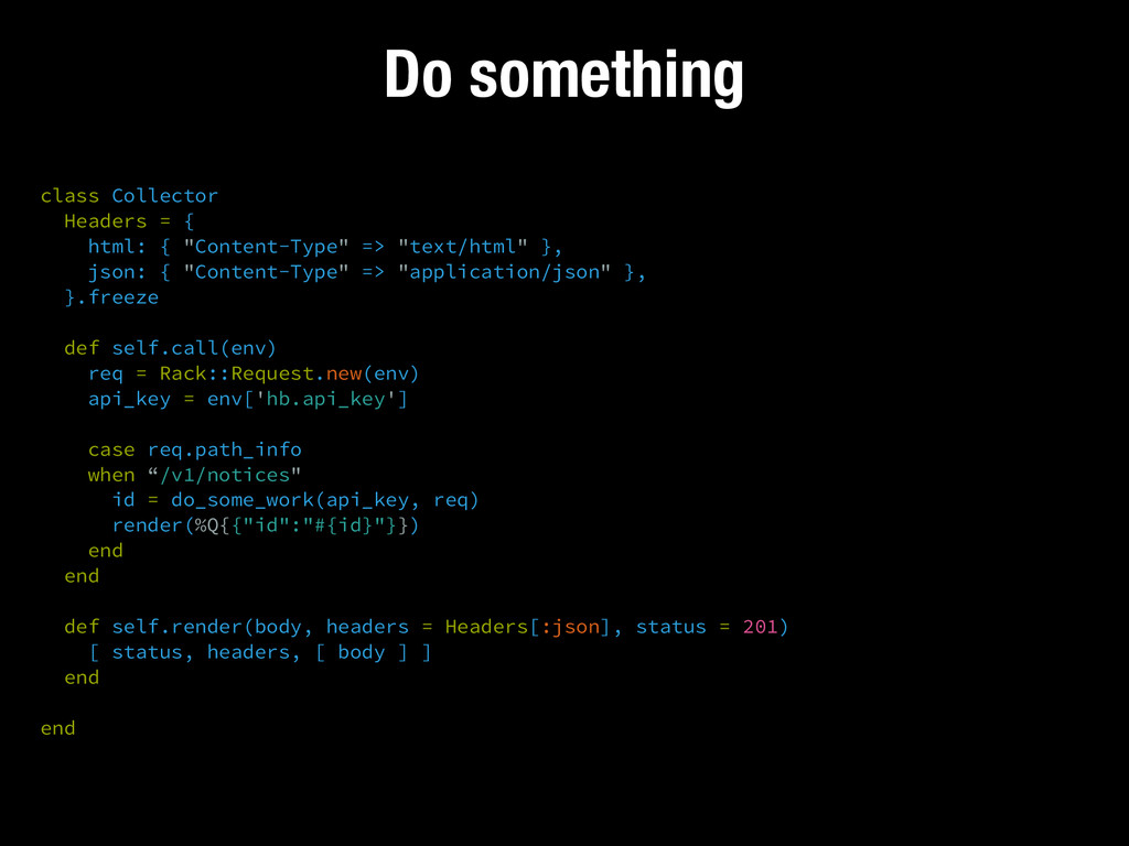 Do something class Collector