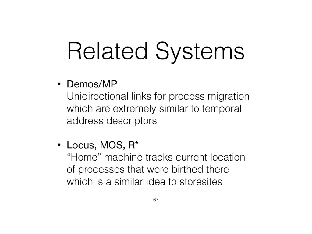 Related Systems • Demos/MP