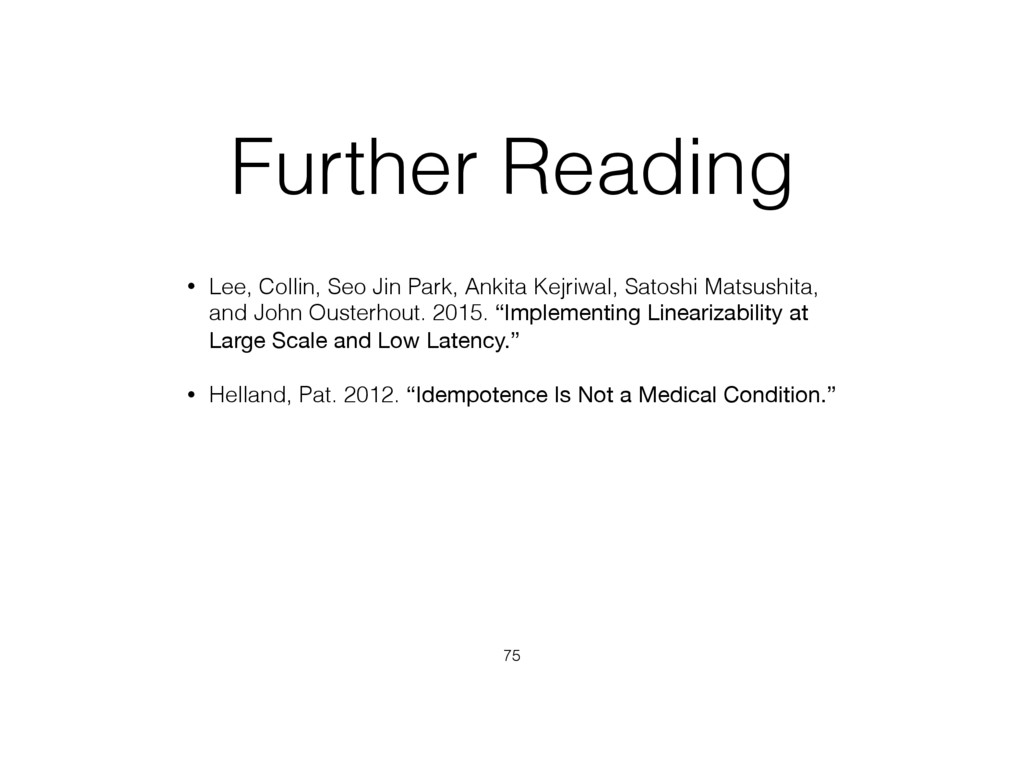 Further Reading • Lee, Collin, Seo Jin Park, An...