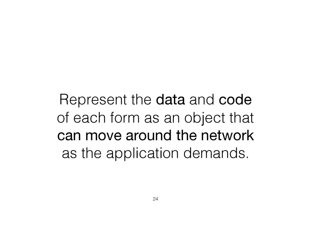 Represent the data and code of each form as an ...