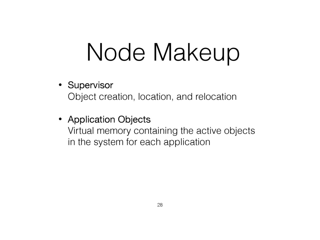 Node Makeup • Supervisor