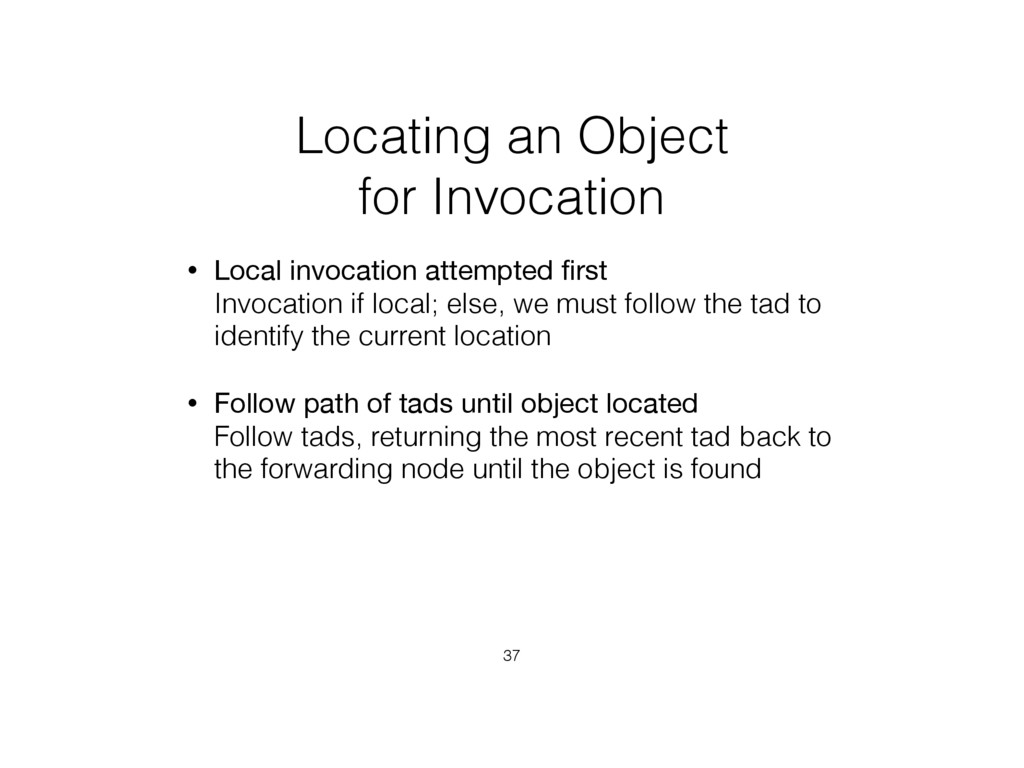Locating an Object for Invocation • Local invoc...