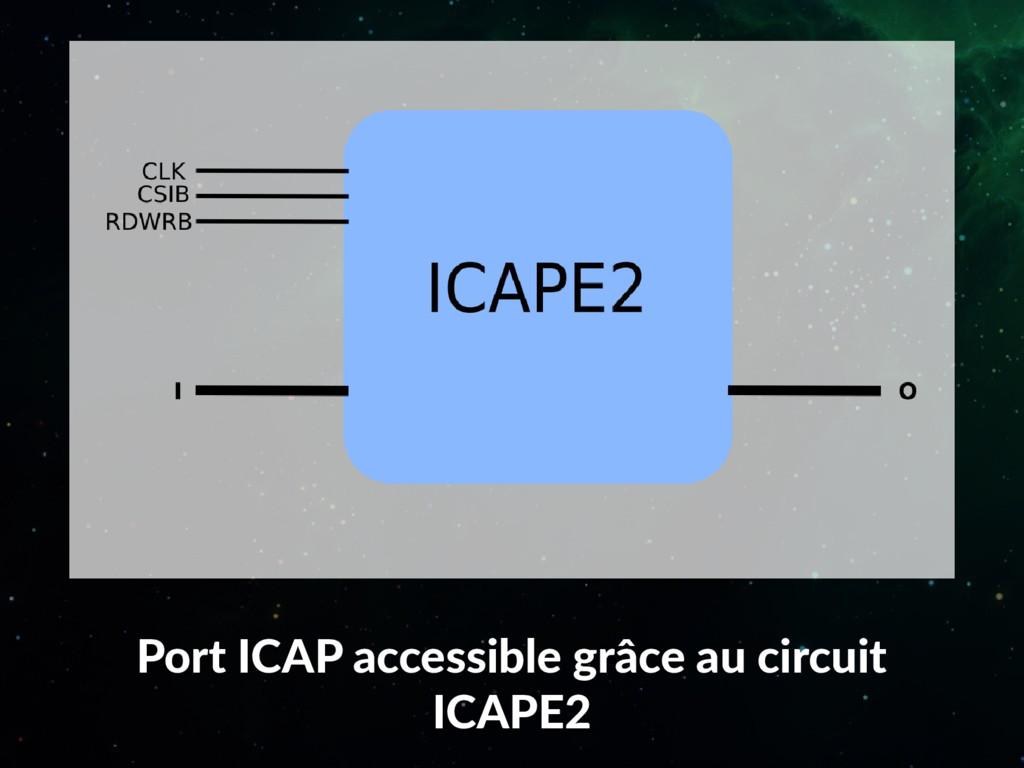 Port ICAP accessible grâce au circuit ICAPE2