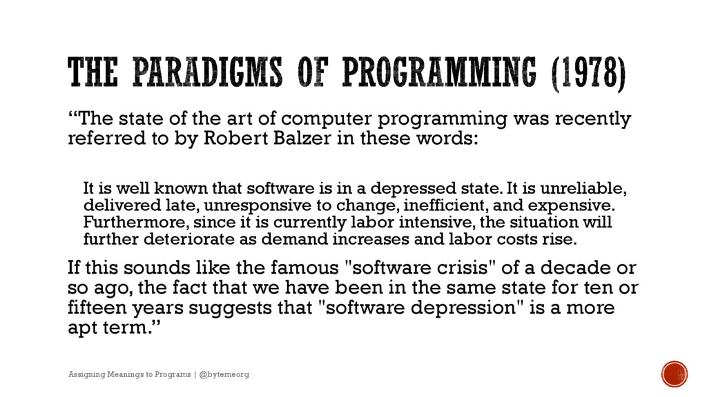 """The state of the art of computer programming w..."