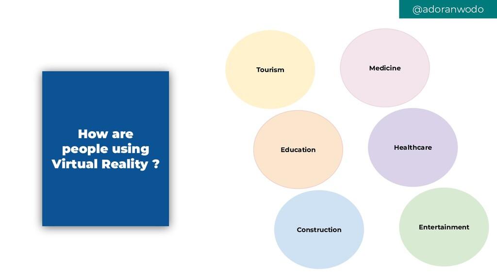 @adoranwodo How are people using Virtual Realit...