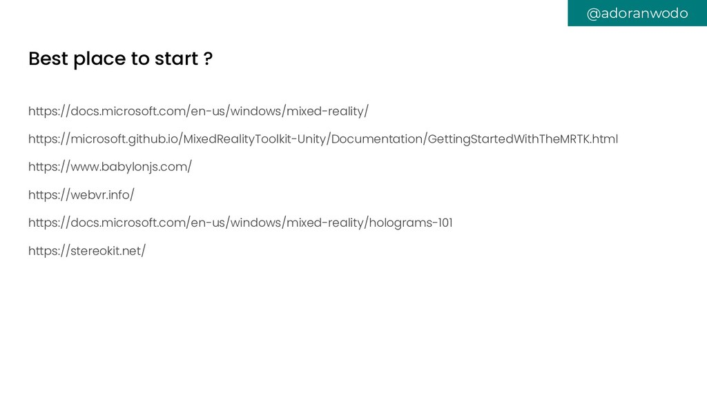 Best place to start ? https://docs.microsoft.co...