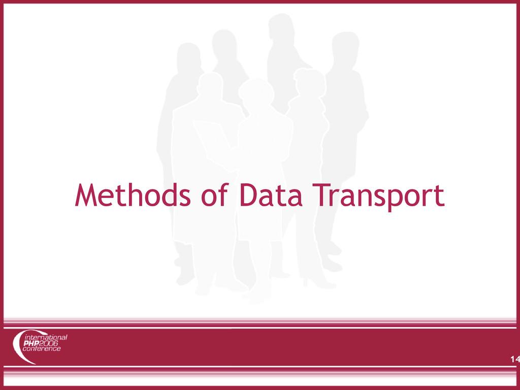 Methods of Data Transport 14