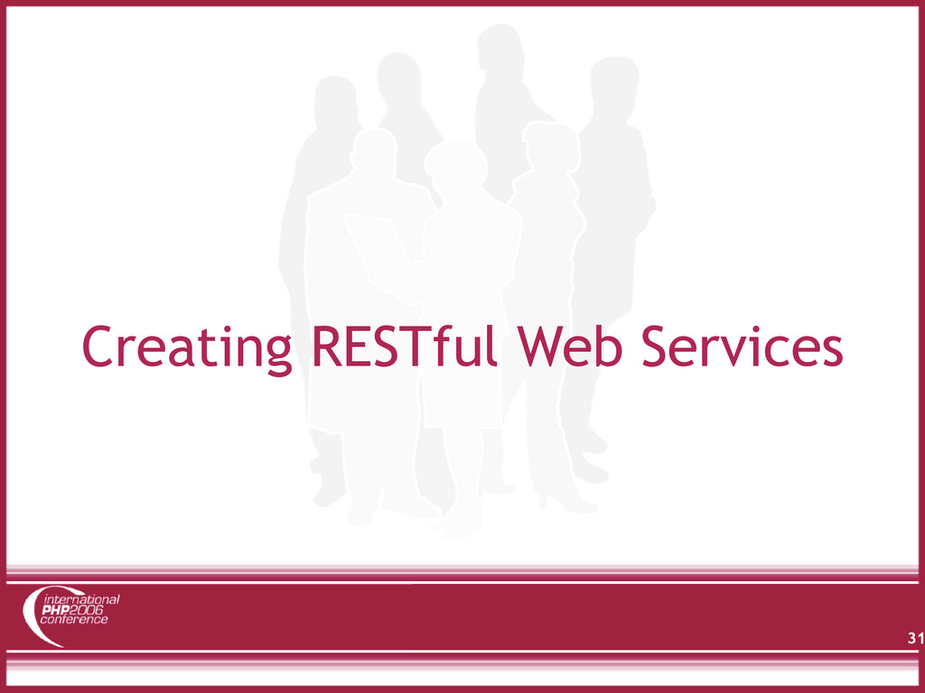 Creating RESTful Web Services 31