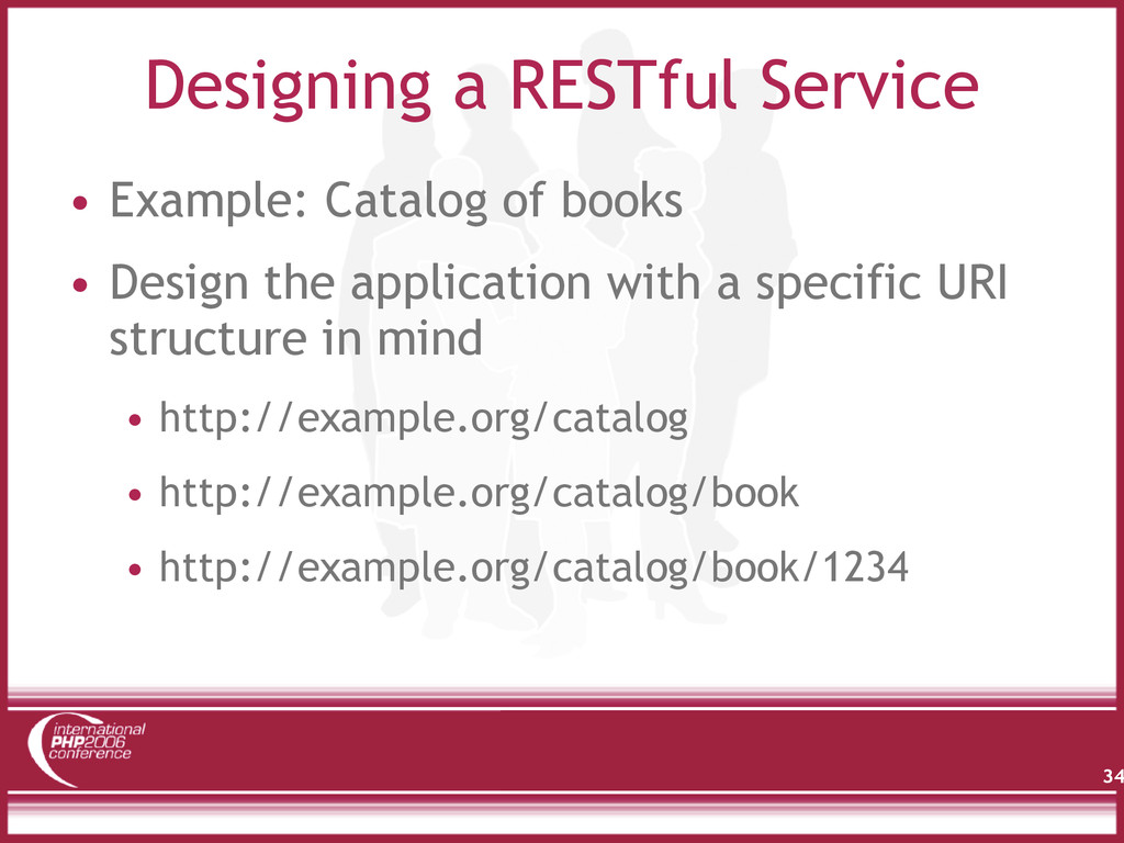 Designing a RESTful Service • Example: Catalog ...