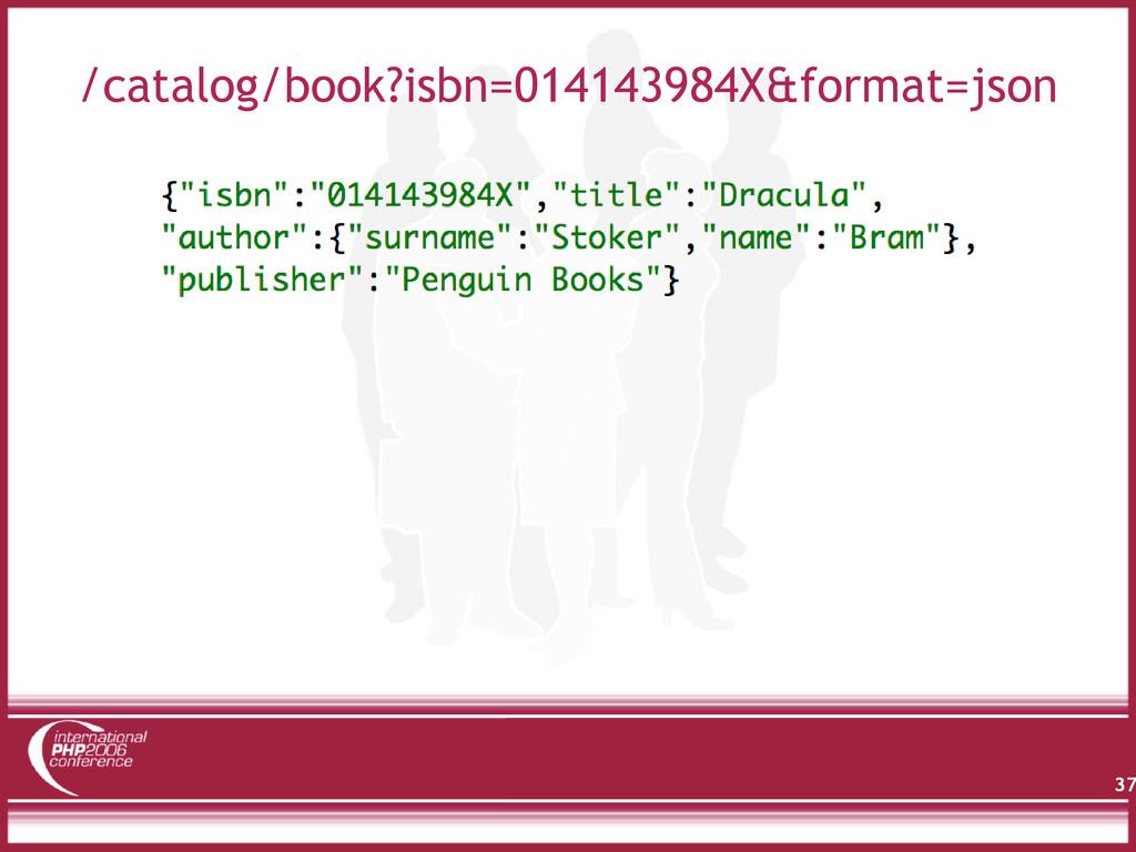 /catalog/book?isbn=014143984X&format=json 37
