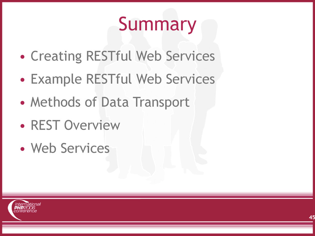 Summary • Creating RESTful Web Services • Examp...