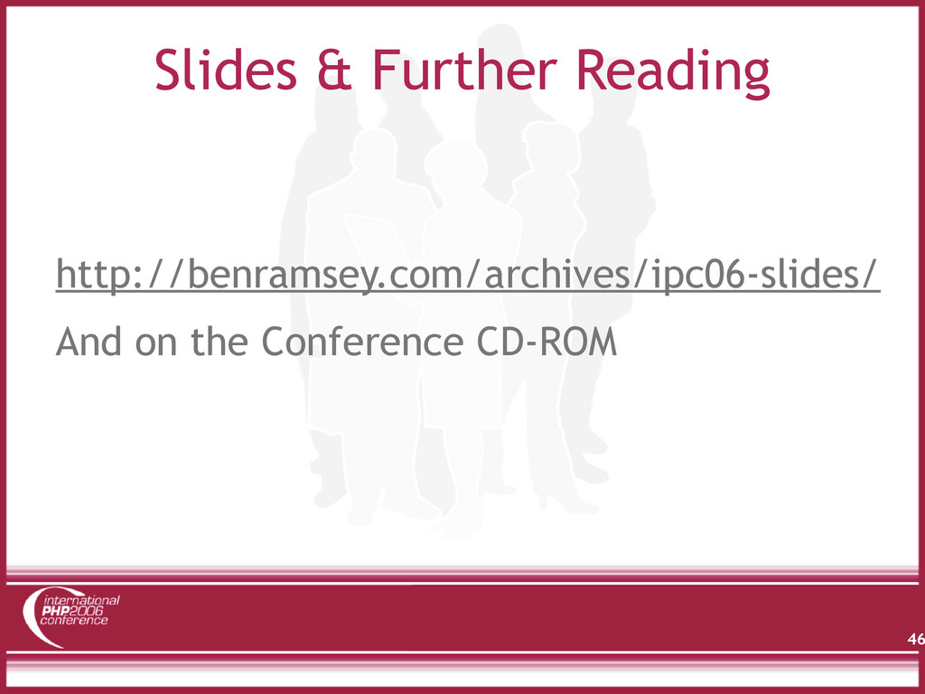 Slides & Further Reading http://benramsey.com/a...