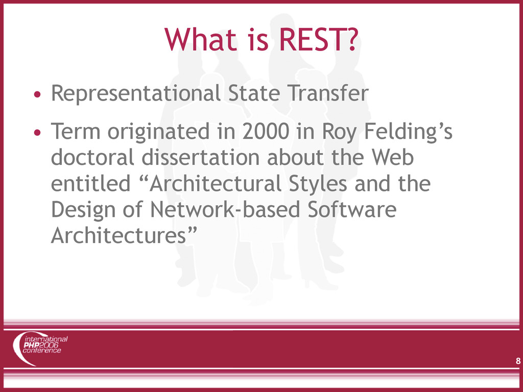 What is REST? 8 • Representational State Transf...