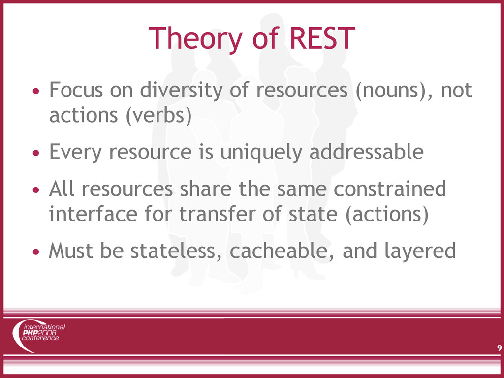Theory of REST • Focus on diversity of resource...