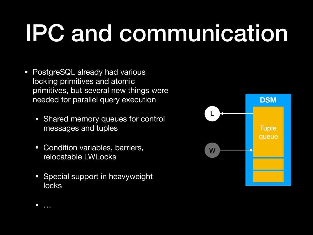 IPC and communication • PostgreSQL already had ...