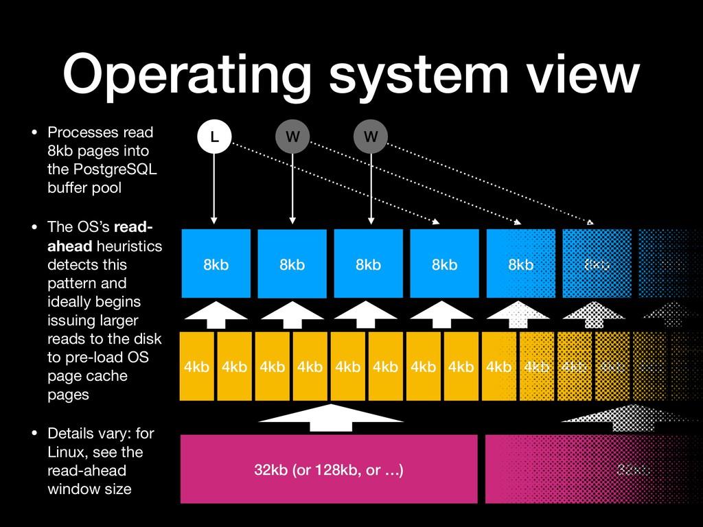 Operating system view 8kb 8kb 8kb 8kb 4kb W W 8...