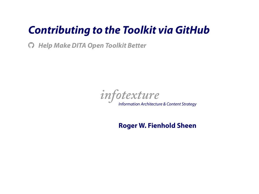 Contributing to the Toolkit via GitHub ! Help M...