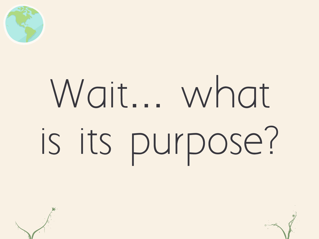 Wait… what is its purpose? zl dfr
