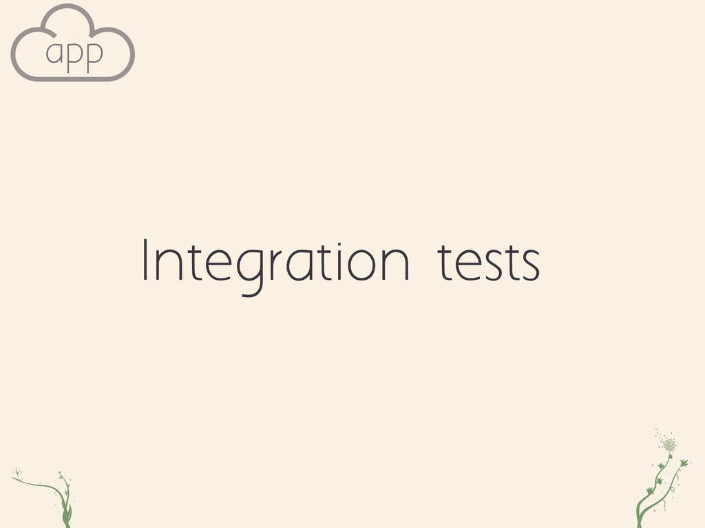 Integration tests xu vll app