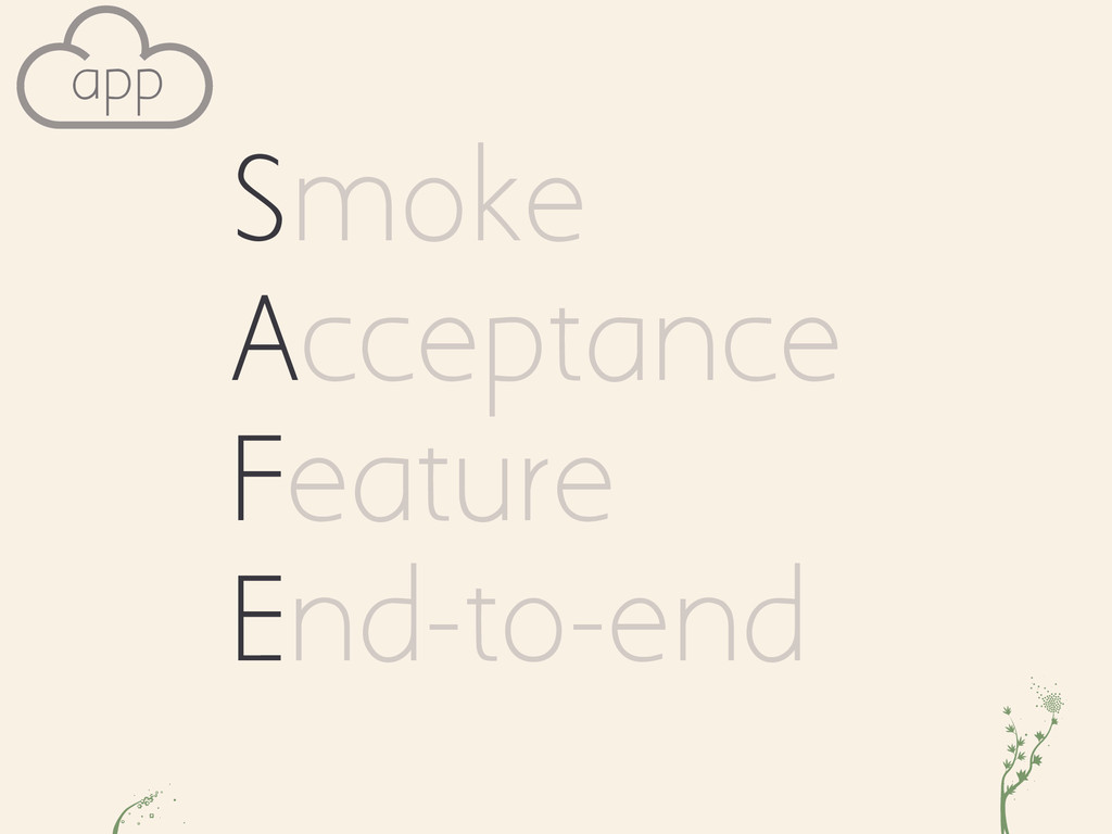 a cv app Smoke Acceptance Feature End-to-end