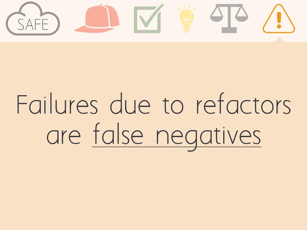 SAFE Failures due to refactors are false negati...