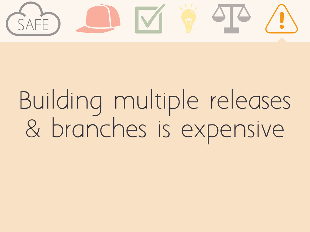 SAFE Building multiple releases & branches is e...