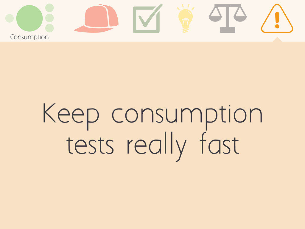 Keep consumption tests really fast Consumption