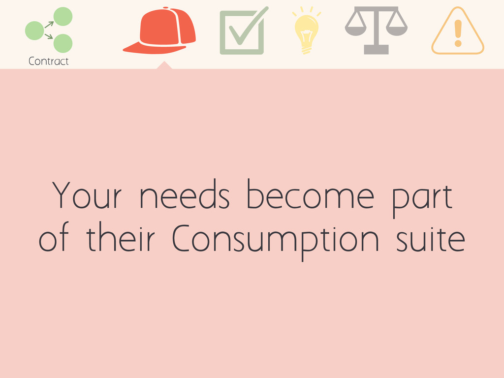 Your needs become part of their Consumption sui...