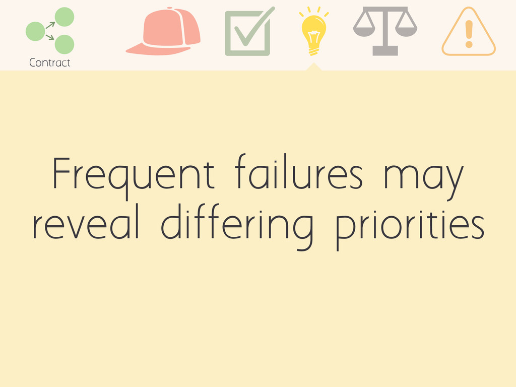Frequent failures may reveal differing prioriti...