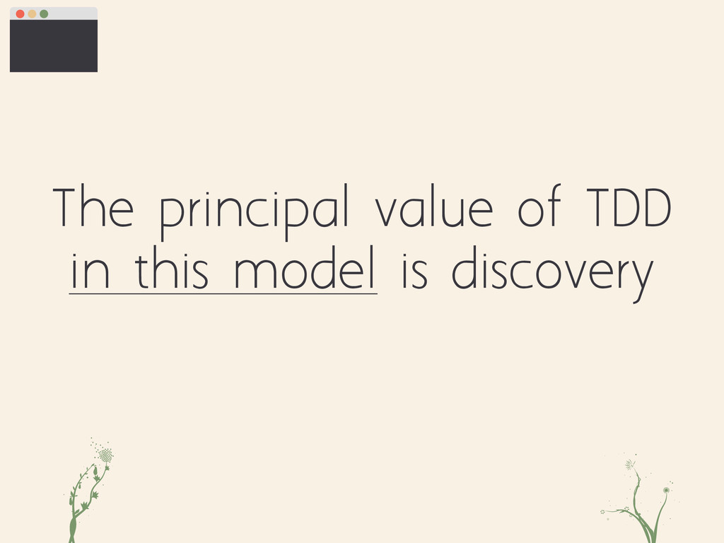 The principal value of TDD in this model is dis...