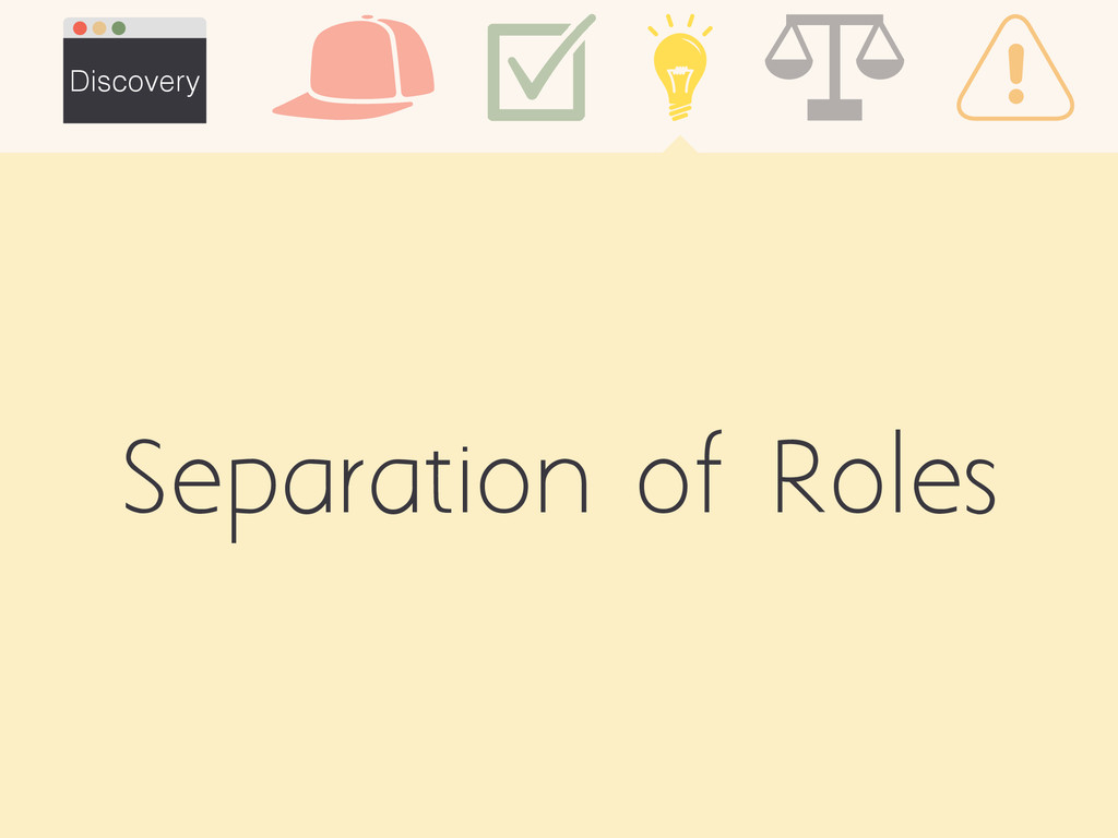 Separation of Roles Discovery