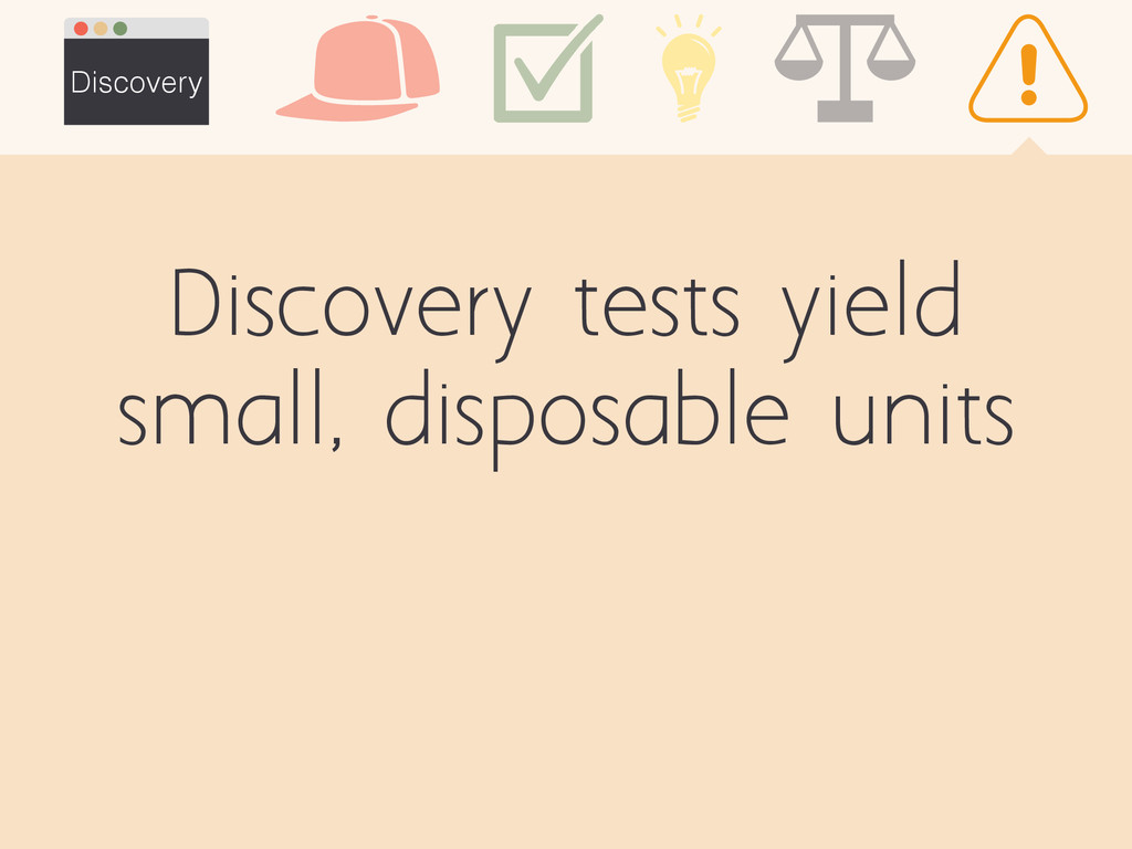 Discovery tests yield small, disposable units D...
