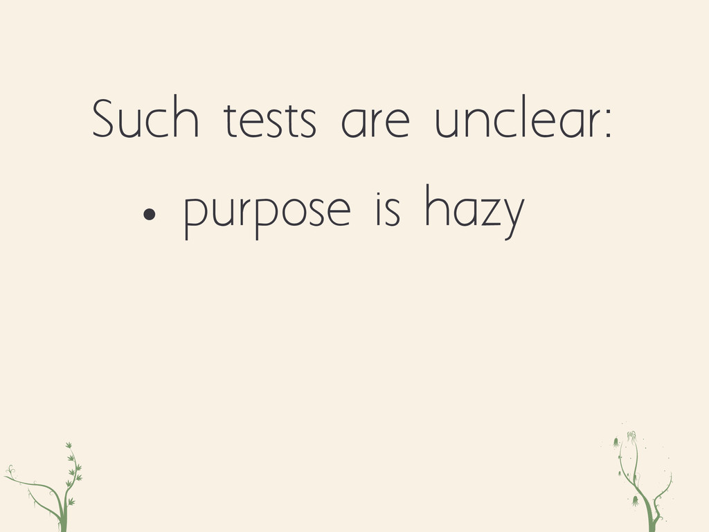 zxc eqr • purpose is hazy Such tests are unclea...