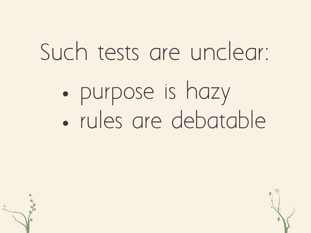 zxc eqr • purpose is hazy • rules are debatable...