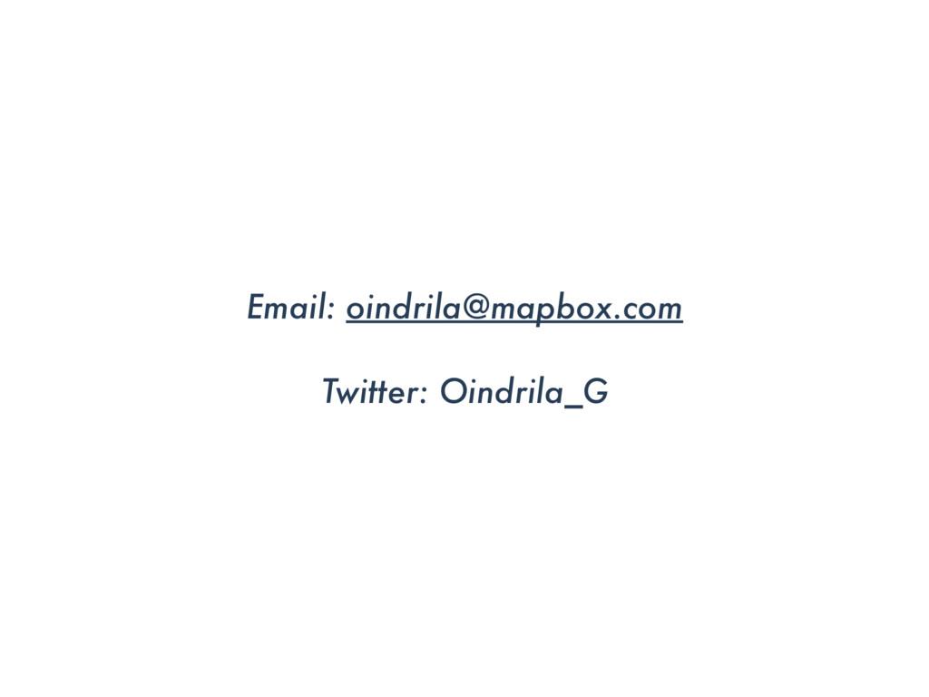 Email: oindrila@mapbox.com Twitter: Oindrila_G