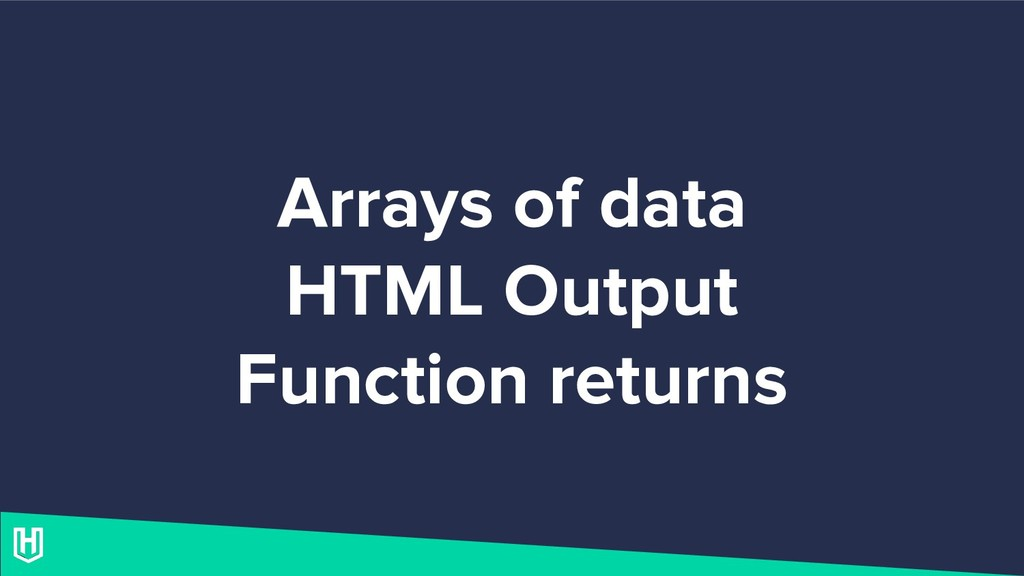 Arrays of data HTML Output Function returns