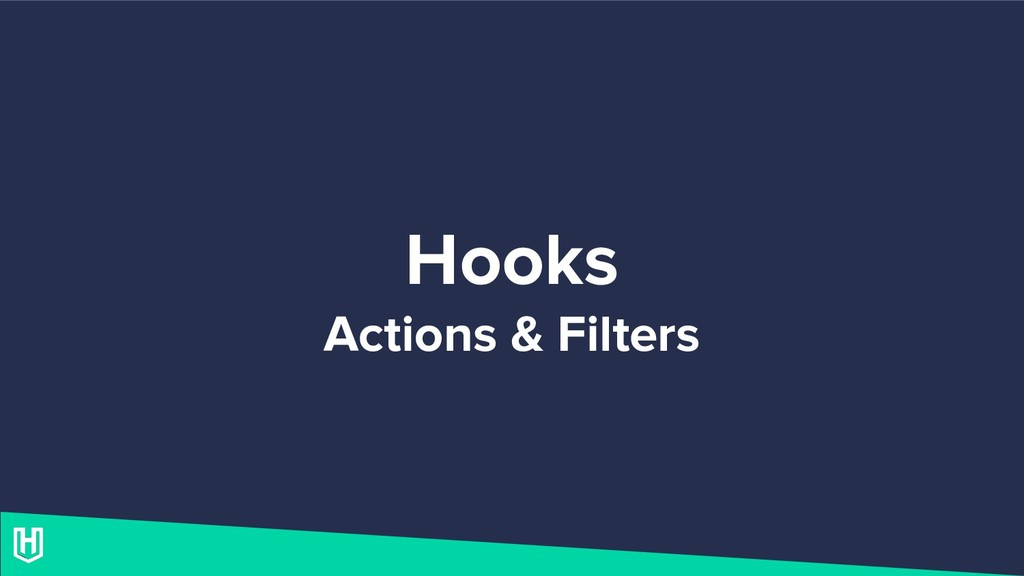 Hooks Actions & Filters