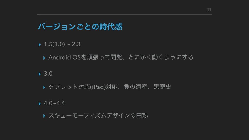 ▸ 1.5(1.0) ~ 2.3 ▸ Android OSΛؤுͬͯ։ൃɺͱʹ͔͘ಈ͘Α͏ʹ͢...
