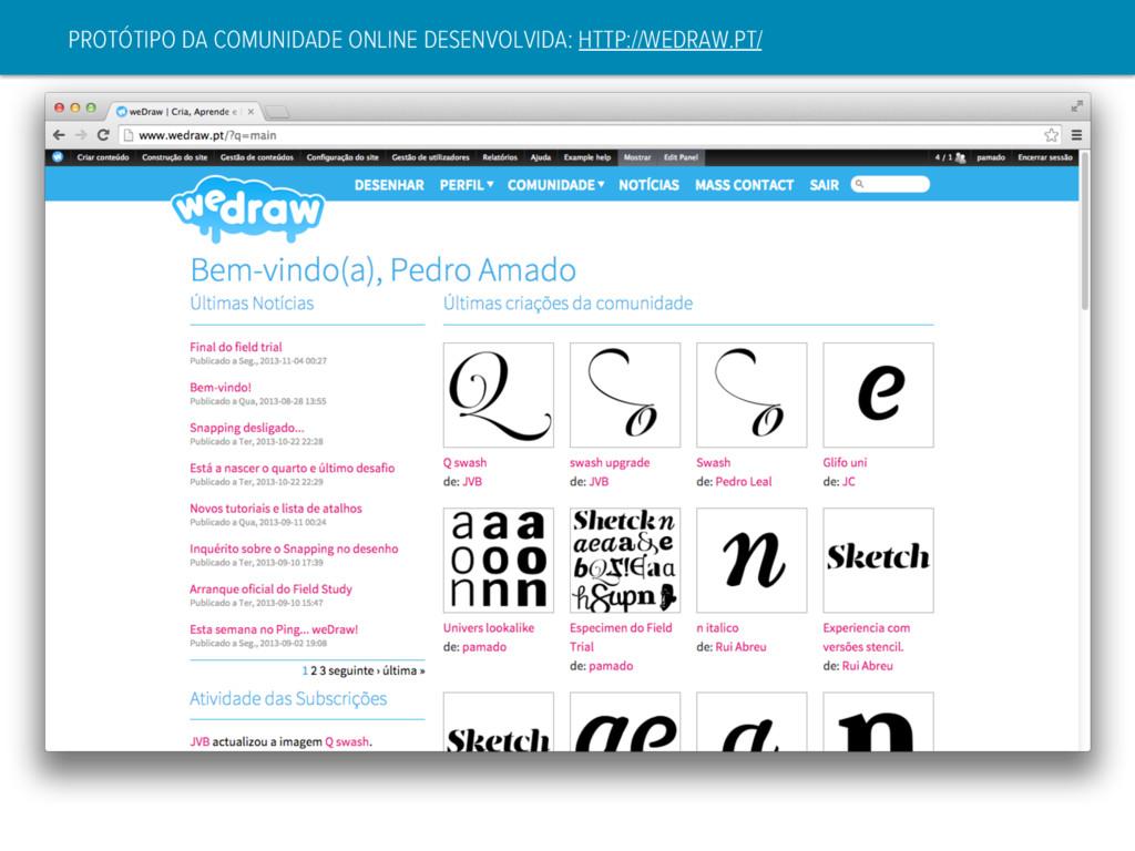 PROTÓTIPO DA COMUNIDADE ONLINE DESENVOLVIDA: HT...