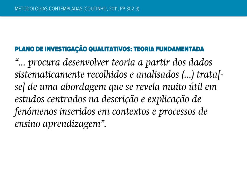 METODOLOGIAS CONTEMPLADAS (COUTINHO, 2011, PP.3...