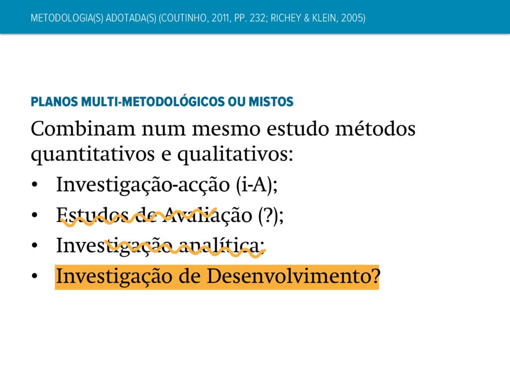 METODOLOGIA(S) ADOTADA(S) (COUTINHO, 2011, PP. ...
