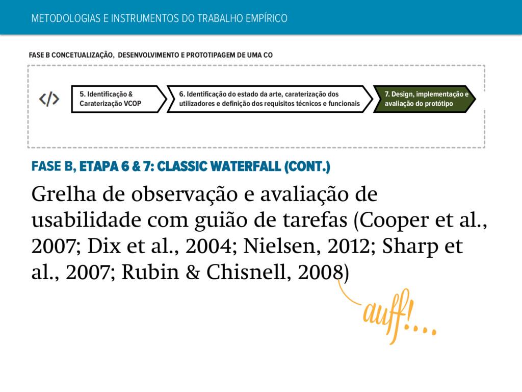 5. Identificação & Caraterização VCOP 6. Identifi...