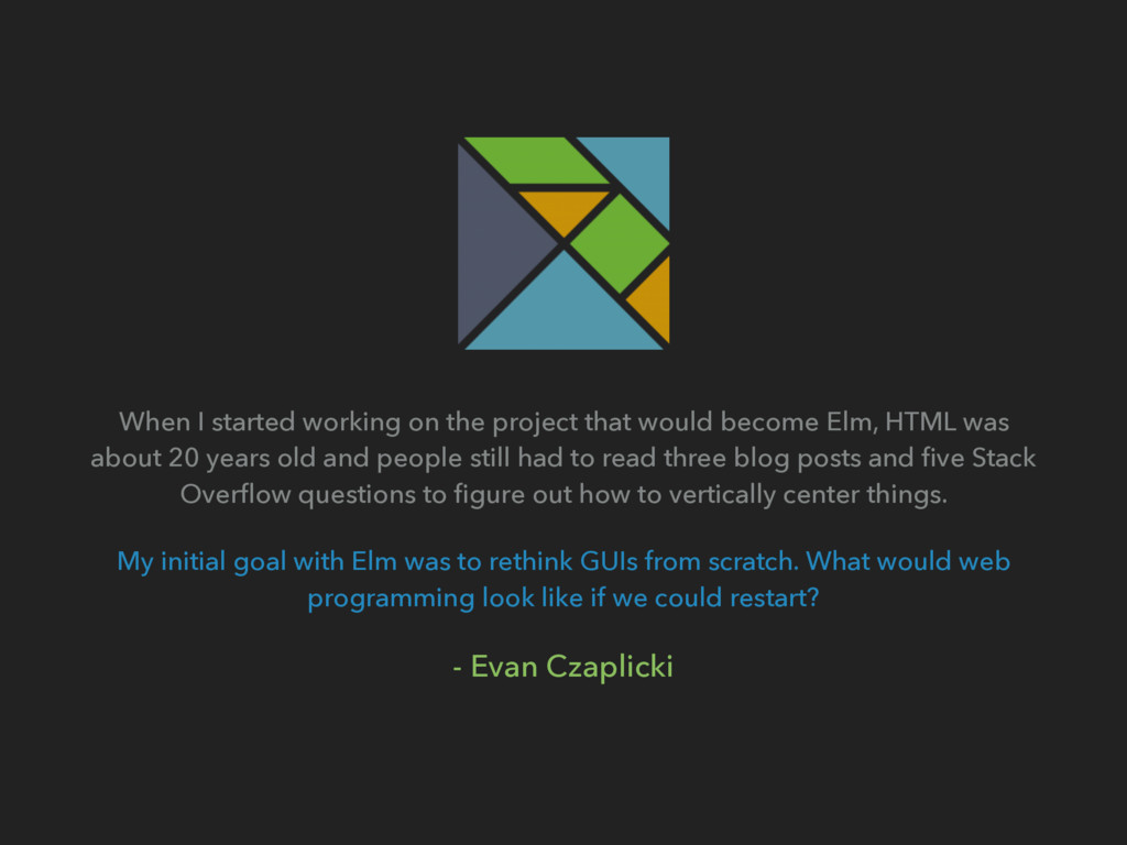 When I started working on the project that woul...