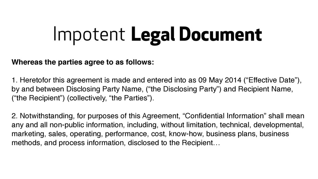 Legal Document Whereas the parties agree to as ...