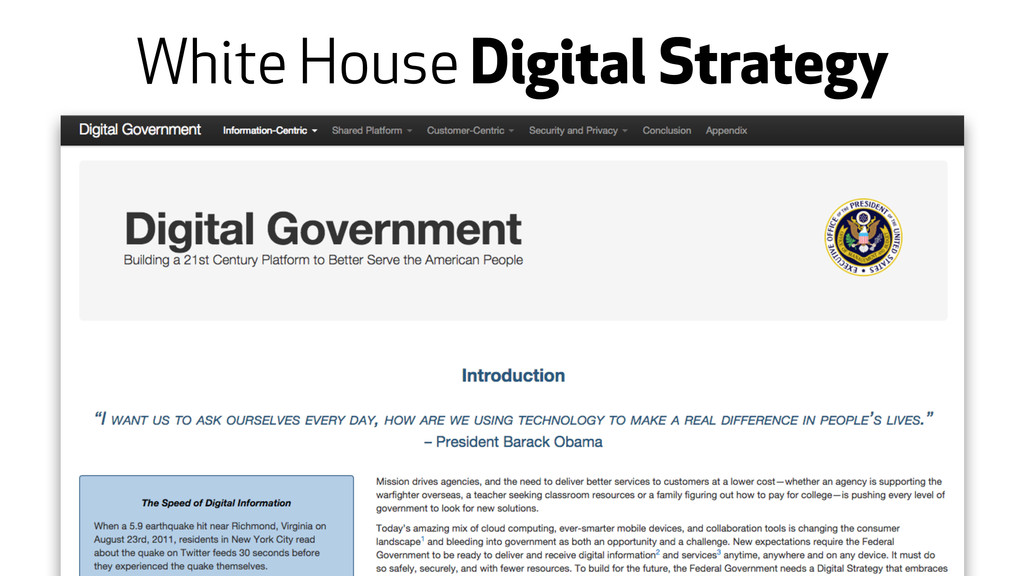 White House Digital Strategy