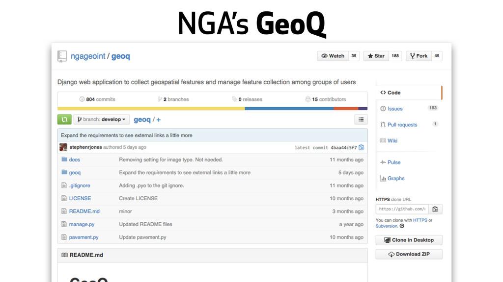 NGA's GeoQ